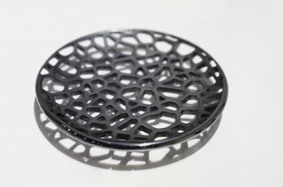 宮川 和音 「鐵鎚目透彫豆皿」