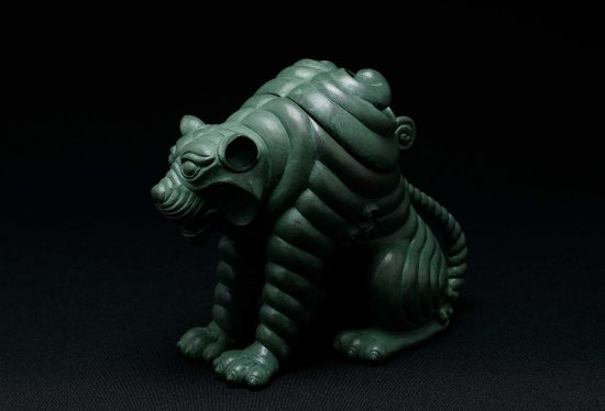 銅 阿吽之虎 青銅 「阿形」