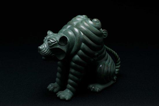 銅 阿吽之虎青銅 「吽形」
